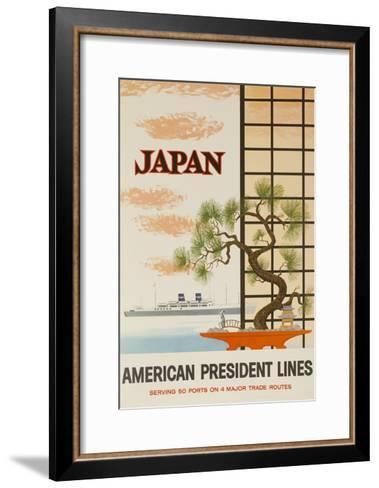 Japan American President Lines Cruise Poster--Framed Art Print