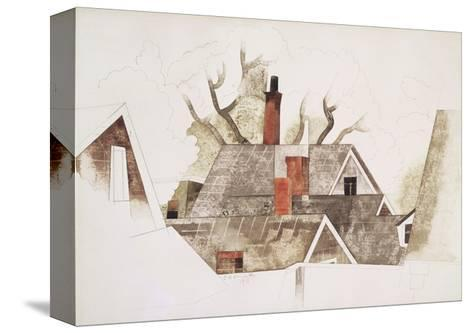 Red Chimneys-Charles Demuth-Stretched Canvas Print