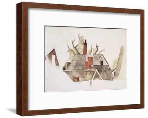 Red Chimneys-Charles Demuth-Framed Art Print
