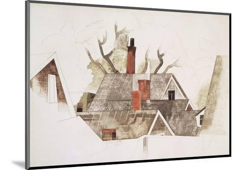Red Chimneys-Charles Demuth-Mounted Giclee Print