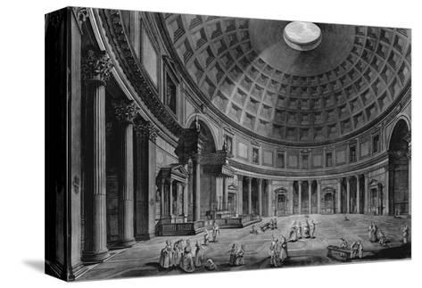 Interior View of the Pantheon-Francesco Piranesi-Stretched Canvas Print