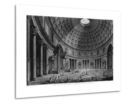 Interior View of the Pantheon-Francesco Piranesi-Metal Print