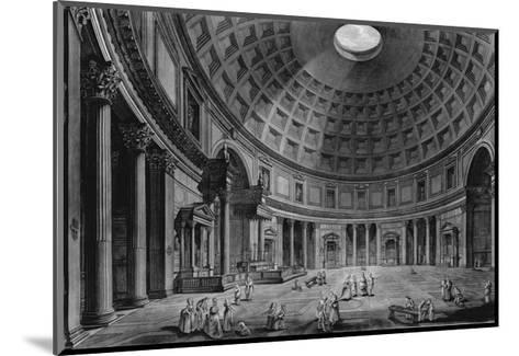Interior View of the Pantheon-Francesco Piranesi-Mounted Giclee Print
