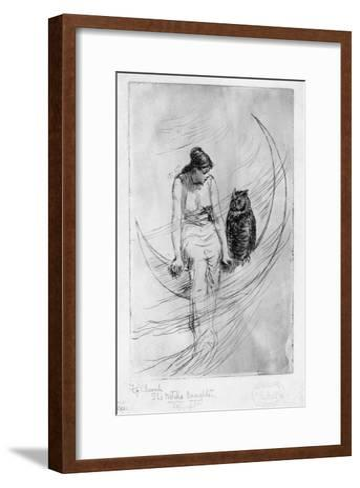 The Witch's Daughter-Frederick Stuart Church-Framed Art Print
