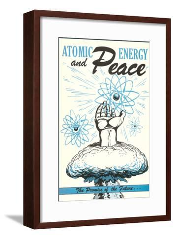 Atomic Energy and Peace Poster--Framed Art Print