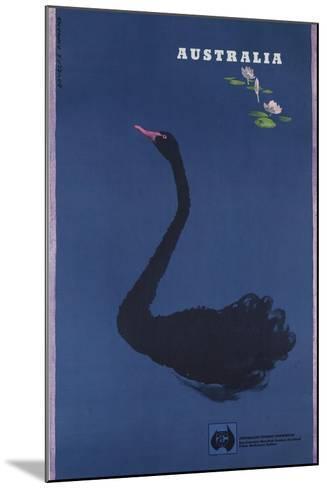Australian Travel Board Travel Poster, Black Swann, Ca, 1950s--Mounted Giclee Print