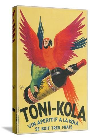 Macaws with Bottle of Toni-Kola Liqueur--Stretched Canvas Print