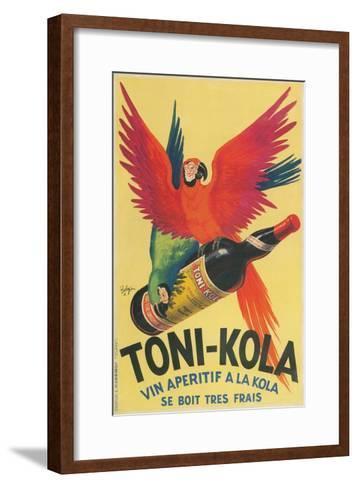 Macaws with Bottle of Toni-Kola Liqueur--Framed Art Print