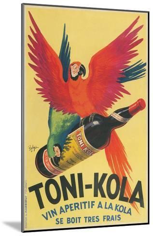 Macaws with Bottle of Toni-Kola Liqueur--Mounted Giclee Print