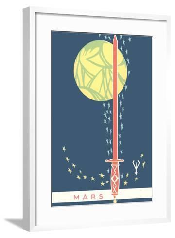 Mars: Planet, Sword and Stars--Framed Art Print