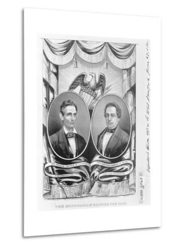Republican Presidential and Vice Presidential Nominees of 1860--Metal Print