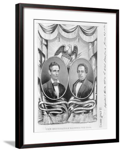 Republican Presidential and Vice Presidential Nominees of 1860--Framed Art Print