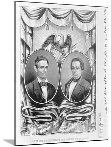 Republican Presidential and Vice Presidential Nominees of 1860--Mounted Giclee Print
