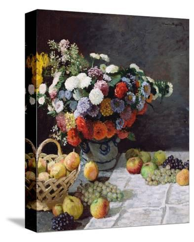 Still Life with Flowers and Fruit-Claude Monet-Stretched Canvas Print