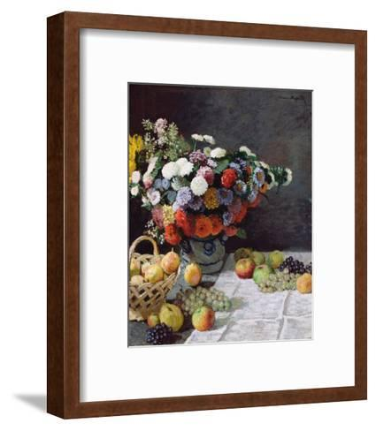 Still Life with Flowers and Fruit-Claude Monet-Framed Art Print