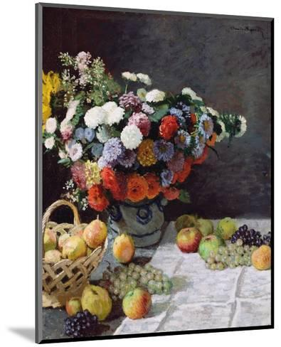 Still Life with Flowers and Fruit-Claude Monet-Mounted Giclee Print