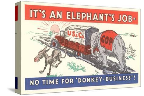 It's an Elephant's Job Political Cartoon--Stretched Canvas Print