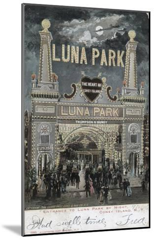 Postcard of Luna Park at Coney Island--Mounted Giclee Print