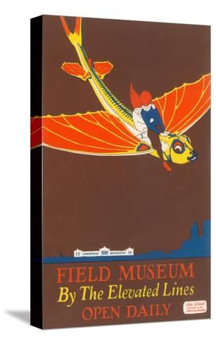 Poster for Field Museum with Children on Giant Koi--Stretched Canvas Print