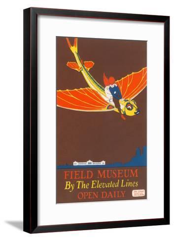 Poster for Field Museum with Children on Giant Koi--Framed Art Print