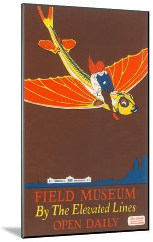 Poster for Field Museum with Children on Giant Koi--Mounted Giclee Print