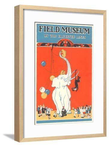 Poster for Field Museum with Circus Elephant--Framed Art Print