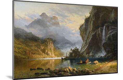 Indians Spearfishing-Albert Bierstadt-Mounted Giclee Print