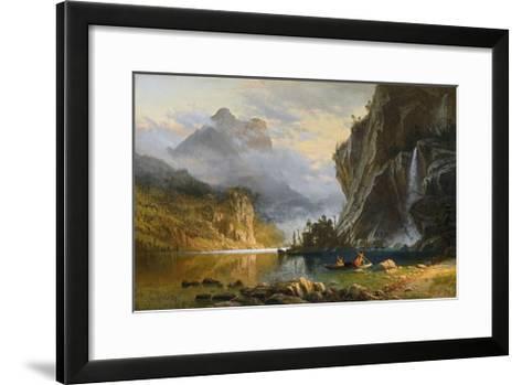 Indians Spearfishing-Albert Bierstadt-Framed Art Print