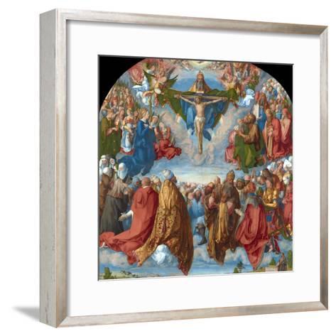 Adoration of the Trinity (Landauer Altarpiece)-Albrecht D?rer-Framed Art Print