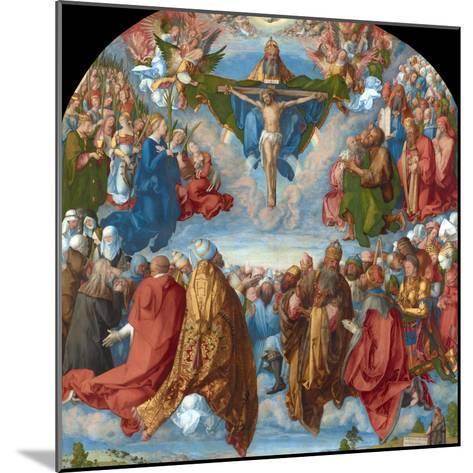 Adoration of the Trinity (Landauer Altarpiece)-Albrecht D?rer-Mounted Giclee Print
