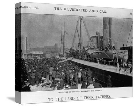 Emigrants Depart for Liberia--Stretched Canvas Print