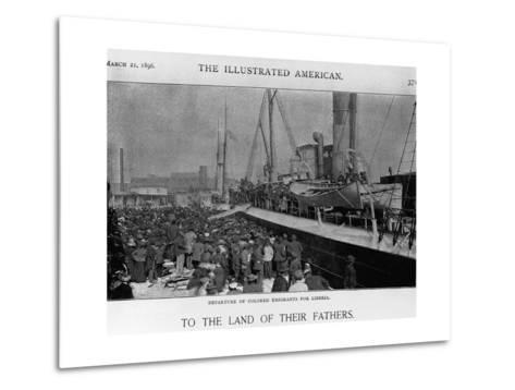 Emigrants Depart for Liberia--Metal Print