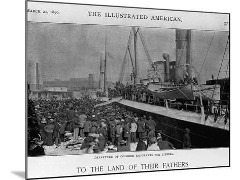 Emigrants Depart for Liberia--Mounted Giclee Print