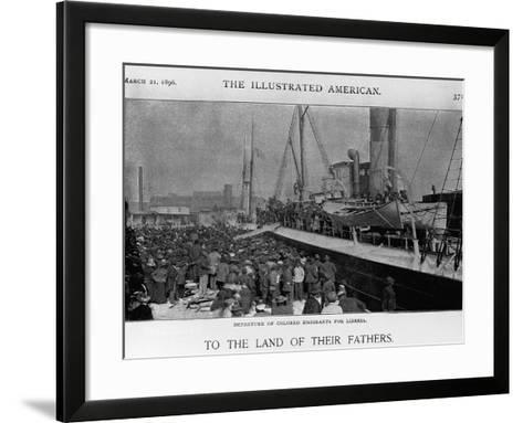 Emigrants Depart for Liberia--Framed Art Print