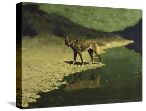 Moonlight, Wolf-Frederic Sackrider Remington-Stretched Canvas Print