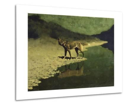 Moonlight, Wolf-Frederic Sackrider Remington-Metal Print