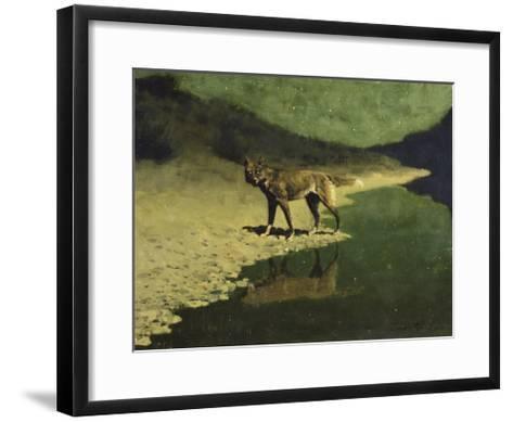 Moonlight, Wolf-Frederic Sackrider Remington-Framed Art Print