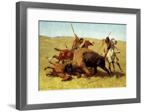 The Buffalo Hunt-Frederic Sackrider Remington-Framed Art Print