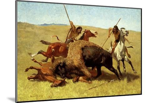 The Buffalo Hunt-Frederic Sackrider Remington-Mounted Giclee Print