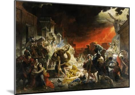 The Last Day of Pompeii-Karl Briullov-Mounted Giclee Print