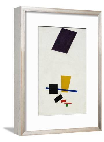 Painterly Realism of a Football Player ? Color Masses in the 4th Dimension-Kasimir Malevich-Framed Art Print