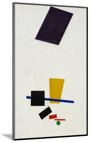 Painterly Realism of a Football Player ? Color Masses in the 4th Dimension-Kasimir Malevich-Mounted Giclee Print