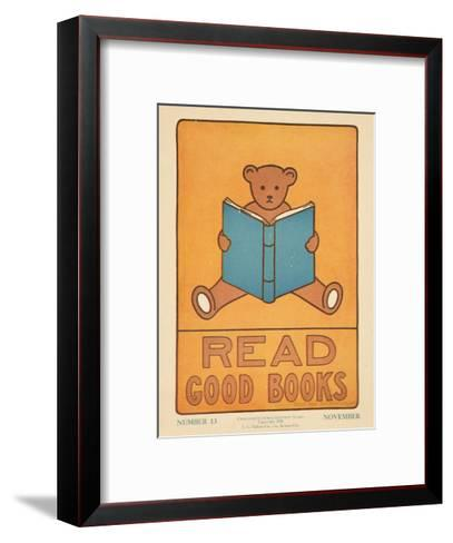 1938 Character Culture Citizenship Guide Poster, Read Good Books--Framed Art Print