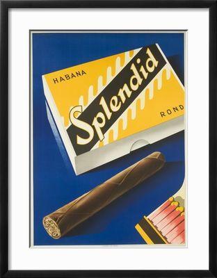 Splendid Cigar, Swiss Advertising Poster Giclee Print at Art.com