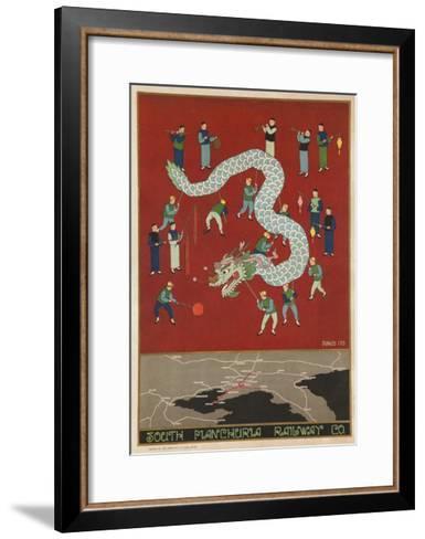 The South Manchuria Railway Travel Poster Dragon Float--Framed Art Print
