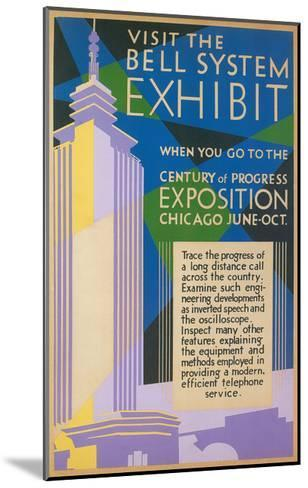Visit the Bell System Exhibit Poster, Chicago World's Fair, 1935--Mounted Giclee Print