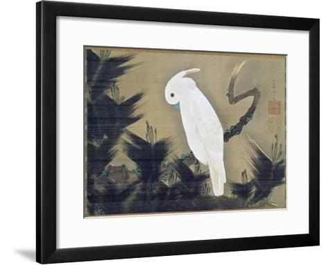 White Cockatoo on a Pine Branch-Ito Jakuchu-Framed Art Print