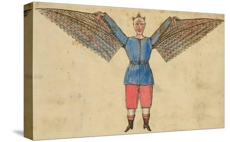 Man with Wings Attached to Tunic--Stretched Canvas Print