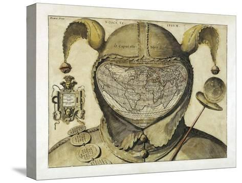 Fool's Cap World Map--Stretched Canvas Print