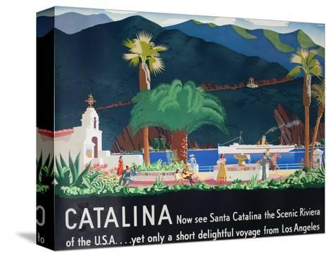 Catalina Island Travel Poster--Stretched Canvas Print